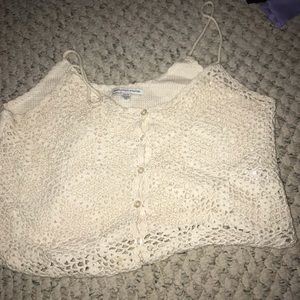 American eagle lace crop top